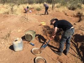 Shovel the dirt