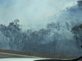 Yep. Bushfires in a dry, dry land. It was bound to happen.