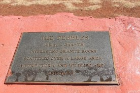 In fact none of these plaques at the lookout say anything other than basically, Look, over there, that's not Tennant Creek