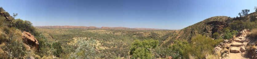 The view back over the ranges from halfway up.